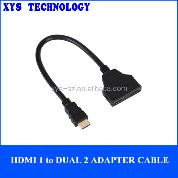 hdmi 1 to dual 2 adapter cable