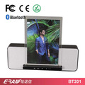 2017 new private mobile phone holder bluetooth speaker with table pc stand