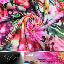 100% polyester no spandex scuba knitted fabric with paper print