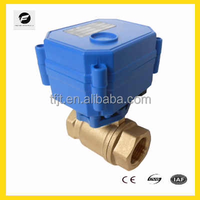 "CWX15Q Mini DC12V motor valve with actuator ,<strong>1</strong>/2"" cr05 valvesBrass BSP thread screw"