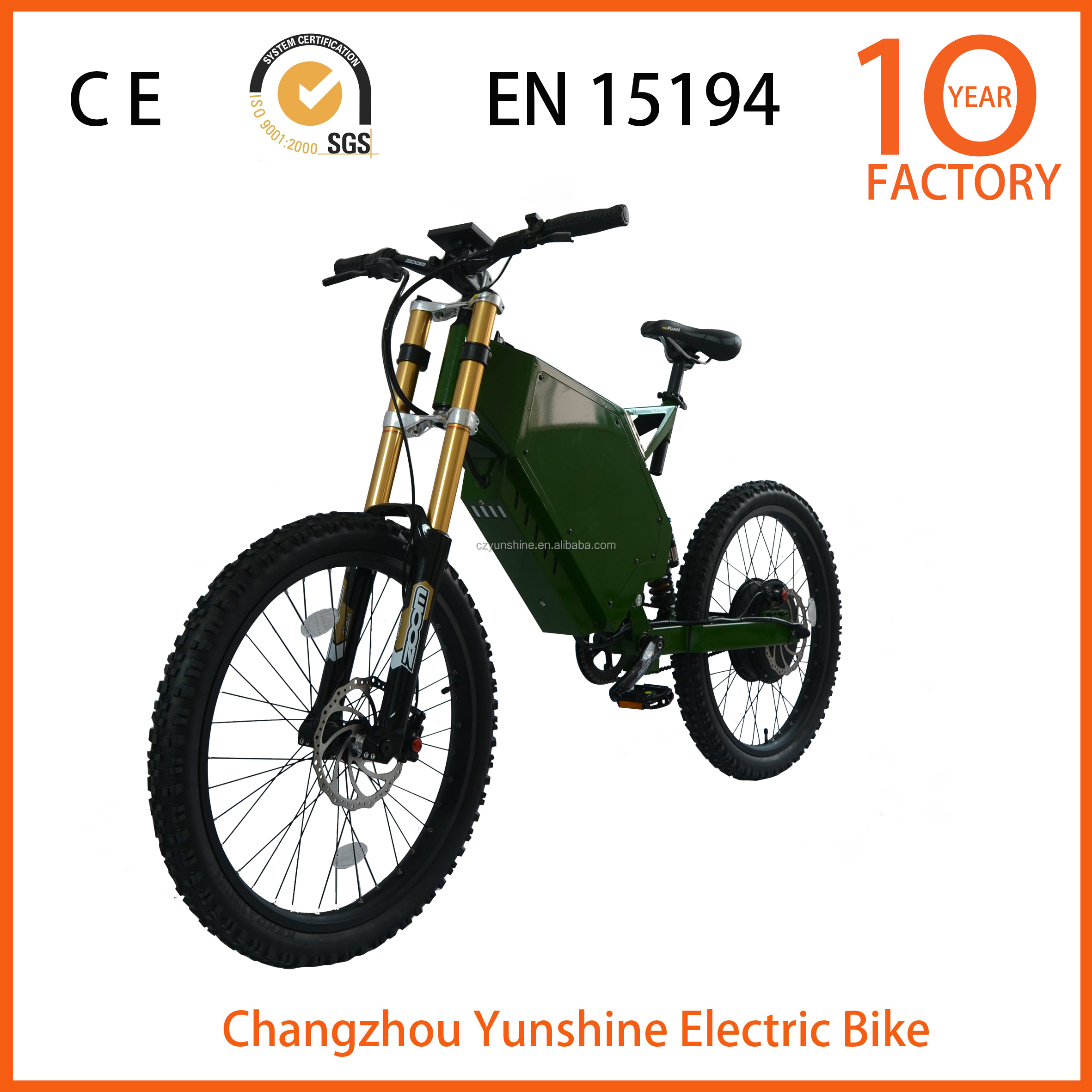 Changzhou Yunshine 48v 3000w motor electric motorcycle, electric bike 1000w 48v