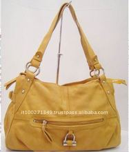 3077 High Quality Yellow Women Genuine Leather Handbags