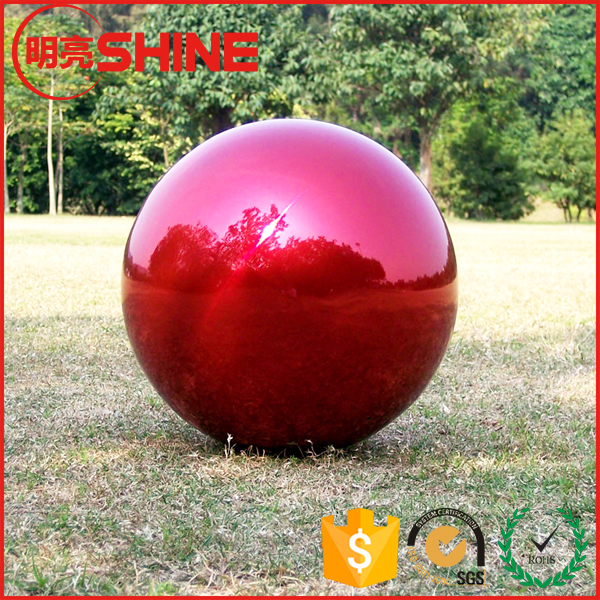 40 Inch Big Hollow Metal Sphere Red Color Mirror Ball
