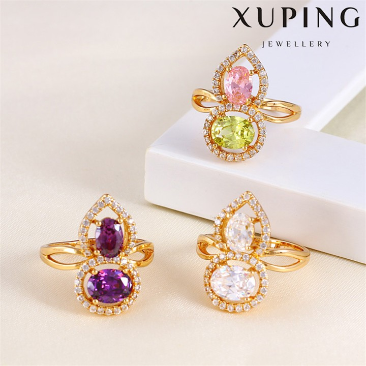 11514 Xuping Jewelry gemstone ring Fashion Jewelry, New Design 18K gold Plated Finger ring