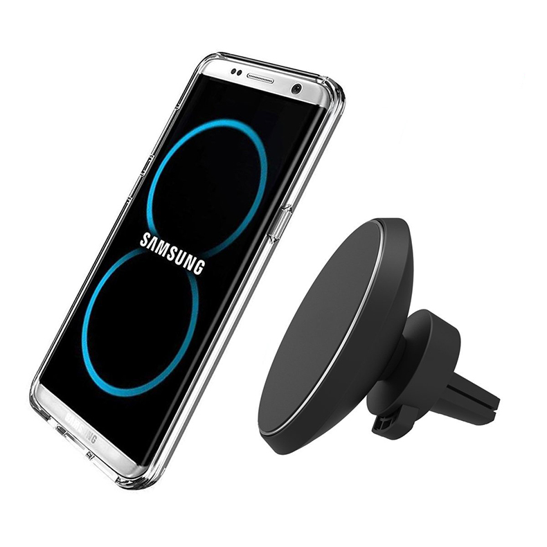 Magnetic QI Wireless Car Charger Mount,Mobile Cell Phone Air Vent Magnet Car Cradle Charging Holder for Samsung Galaxy Note 8