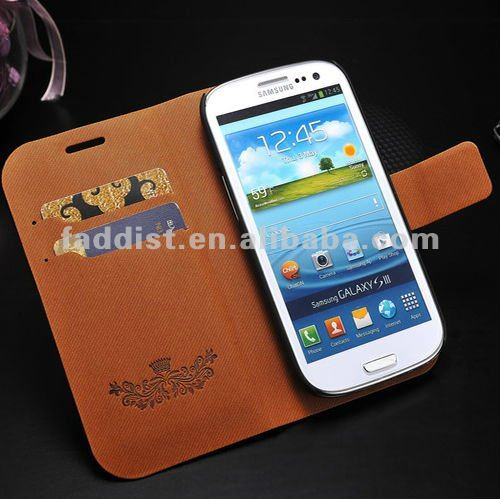 fancy case for samsung galaxy s3 i9300 wallet stand case