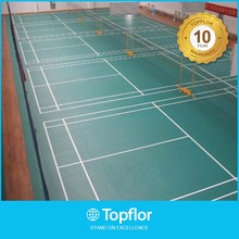 BWF interlocking badminton sports vinyl floor covering