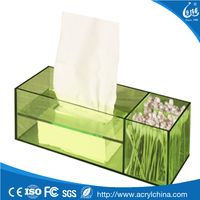Rectangle Green Acrylic Napkin Holder Dispenser,tissue Holder Display