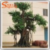 Stout banyan branches of artificial ficus tree for office and restaurant decorative