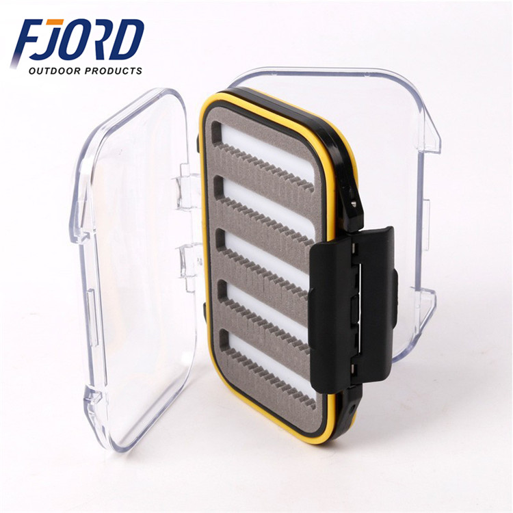 FJORD Mini Plastic Fly Fishing Tackle Hooks Storage Box Lures Keeping Accessories Case