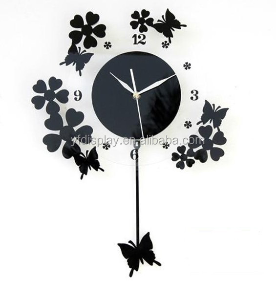 wholedale modern acrylic wall clock different shape available