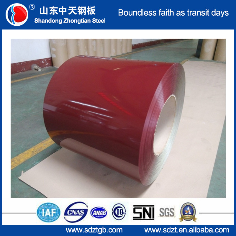0.13-0.6mm Pre painted color steel coil sheet prepainted galvanized coil