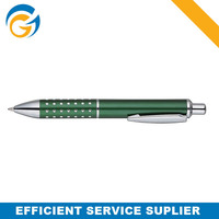 Green Jumbo Dot Metal Click Ball Pen