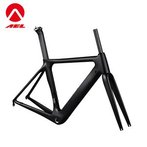 OEM service custom V-brake full carbon china 700C bicycle frame set