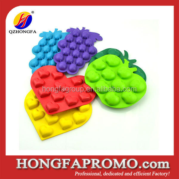 Four ball shape silicone ice ball mold tray