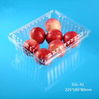 disposable plastic clamshell 1000g fruit pack