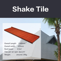 2016 high quality fast installation color sand sheet / stone coated metal roofing tile