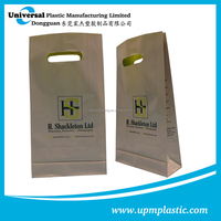 custom size HDPE die cut shopping plastic bag with printing