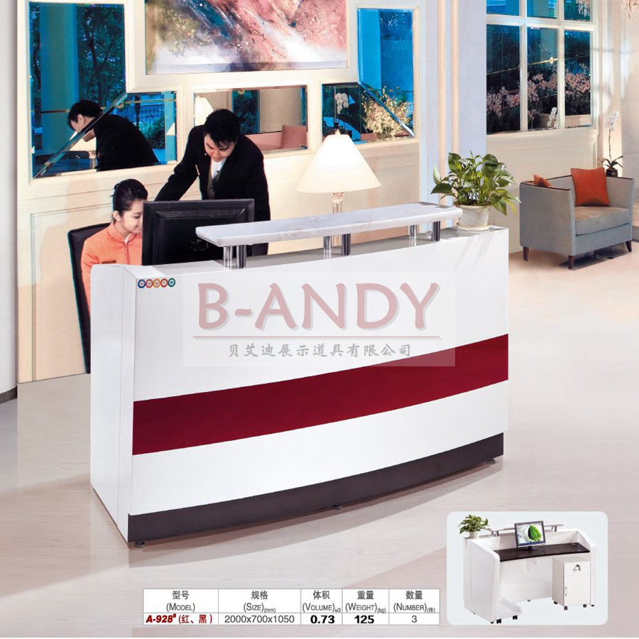 B-andy BA-1561 <strong>New</strong> style foshan factory cashier desk counter for shop