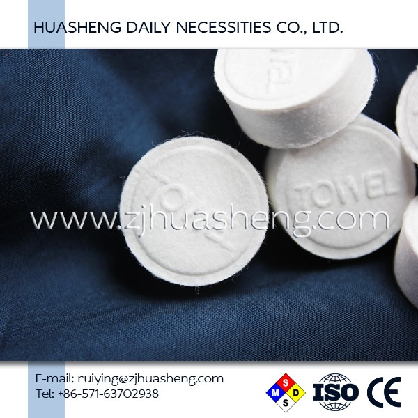Wholesale good quality tablet custom compressed towel