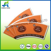 low gsm coffee cup carton sleeve