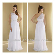 Column One Shoulder Beaded White 2013 Wedding Gowns
