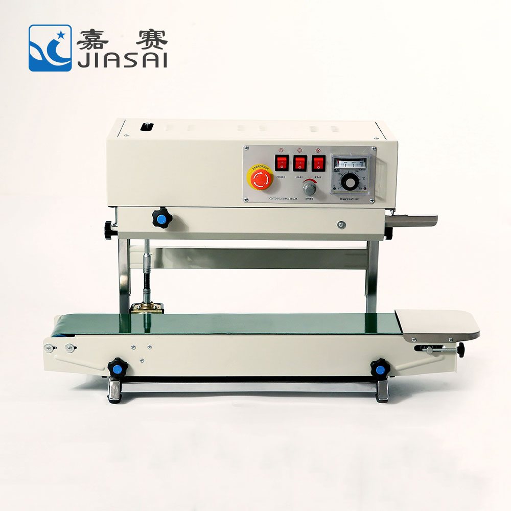 Factory price continuous band bag heat sealer sealing packing machine, super sealer