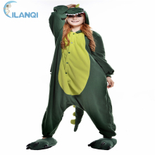 ALQ-A074 Polyester fabric costume hooded pajamas adult dinosaur onesie
