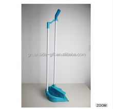 Plastic long handled dustpan and broom set