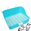 wholesale Pet easy clean Rabbit cage cleaning toilet plastic Supplies rabbit cage mats