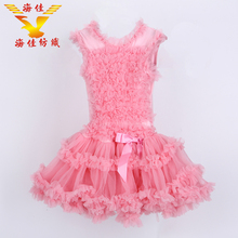 China supply ruffle girl princess puffy flower tutu dresses for party garment