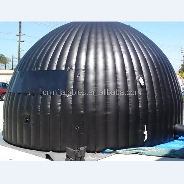 giant inflatable Mobile Digital Planetarium tent inflatable black tent