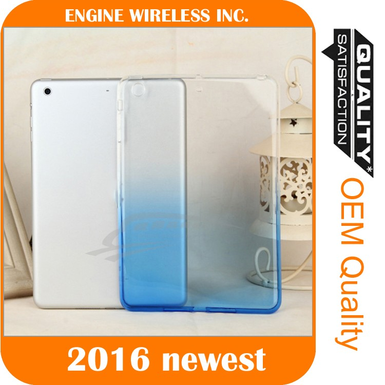 Silicone Rubber Gradient Soft TPU Ultra Thin Case Cover For iPad Mini Air 2