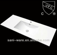 SN1548-120 Big size CUPC rectangular thin ceramic sink for bathroom vanity