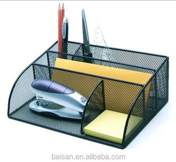 metal mesh desk organizer office desktop organizer wire organizer