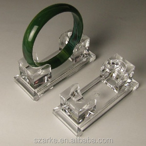 High Quality Crystal Acrylic Bracelet Display Bangle Holder