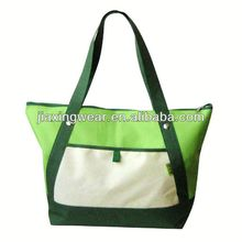 Hot sales natural canvas tote bags with pockets inside for shopping and promotiom