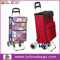 4 wheels folding shopping trolley