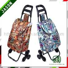 folding shopping trolley bag with wheels colorful practical promotion eva trolley luggage
