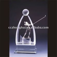 Sports Crystal Award Glass Trophy Blank Customized Crystal Awards/Trophy