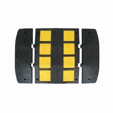 DINGTIAN Double Lane Europe Yellow Reflective Traffic Safety Rubber Speed Hump
