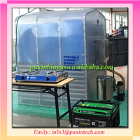 Collapsible 3.4m3 PUXIN membrane paper recycling plant