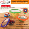 Keepeez Set Non Spill Vacuum food lid / Fresh food airtight lids / Press sealed lids as seen tv