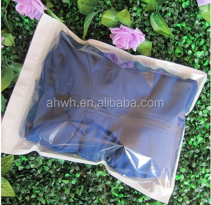 factory high quality clothing plastic zipper bags