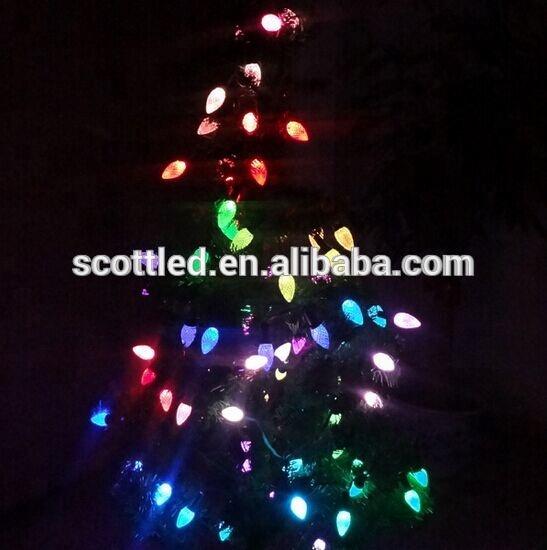 C9 Programmable Christmas Tree Led Lights Ws2811 12v Transparent ...