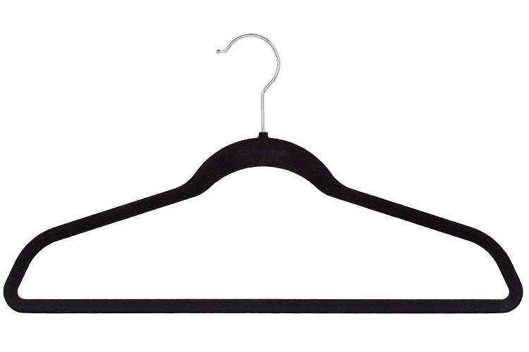 Color Box Ultra Thin No Slip Velvet Hangers Set of 50