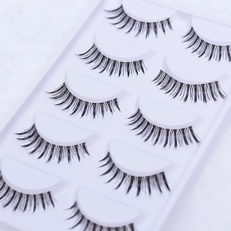 private label 5 pair Handmade Natural False eyelashes Perfect eye lashes