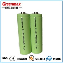 1000ma AA Rechargeable Ni-mh Battery 1.2v