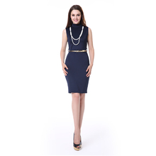 Nixiya manufacturer summer New Arrivals sleeveless pictures office dress for ladies