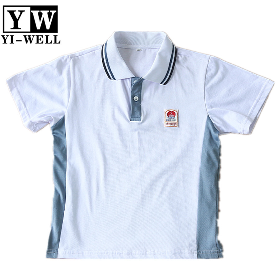 unisex primary pique mesh cotton polo t-shirt school uniform factory 2color polo shirt